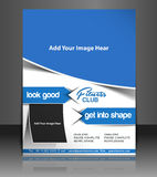 Fitness Center. Fyer, Magazine Cover & Poster Template Royalty Free Stock Photo