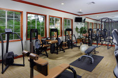 Fitness center gym. Stock interior image of a community fitness center and gym Stock Image