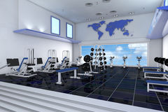 Fitness center in health club Stock Images