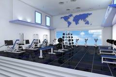 Fitness center in health club. Modern empty fitness center in a health club Stock Images