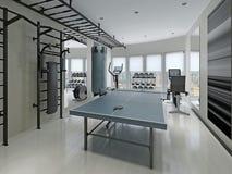 Fitness center minimalism style Royalty Free Stock Photos