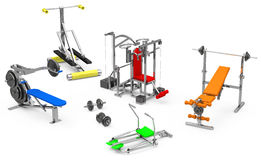 Fitness center objects Royalty Free Stock Photo