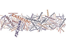 Fitness Center Word Cloud Concept Royalty Free Stock Image