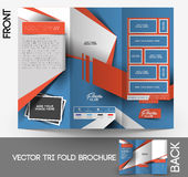Fitness Center Tri-Fold Brochure Royalty Free Stock Photography