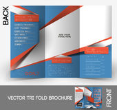 Fitness Center Tri-Fold Brochure Stock Photography