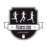 Fitness Center vintage logo concept Stock Images