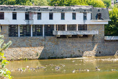 The fitness center on the waterfront in Lovech, Bulgaria stock photos