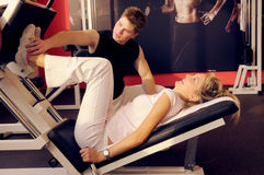 In fitness centre Royalty Free Stock Photo