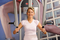 In fitness centre Stock Photo