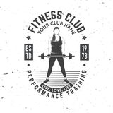 Fitness centre badge. Vector. Royalty Free Stock Photos