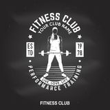 Fitness centre badge. Vector. vector illustration