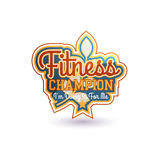 Fitness Champion Vector Stock Image