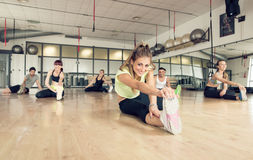 Fitness class making training in the gym Royalty Free Stock Image