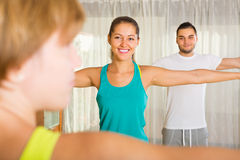Fitness class in sport club Stock Images