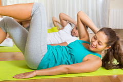 Fitness class in sport club Royalty Free Stock Photo