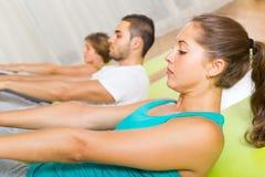 Fitness class in sport club Stock Photos