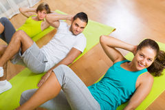 Fitness class in sport club Royalty Free Stock Image
