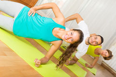 Fitness class in sport club Stock Photography