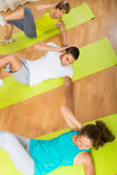 Fitness class in sport club Royalty Free Stock Photos