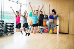 Fitness class in the studio Stock Photography