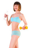 Fitness and clean water Royalty Free Stock Photography