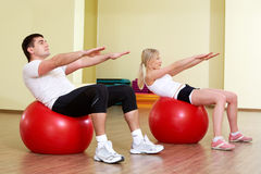 In fitness club Stock Image