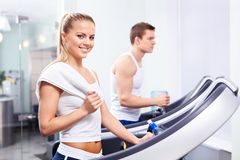 In the fitness club Royalty Free Stock Photography