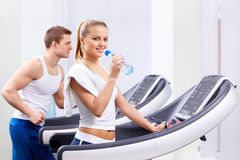 In the fitness club Royalty Free Stock Photo