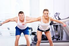 In the fitness club Stock Photos