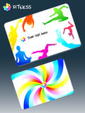 Fitness club business card Stock Photography