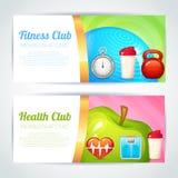 Fitness club card design Stock Photos