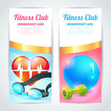 Fitness club card design Stock Images