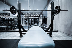 Fitness-Club-Innenraum Stockbild