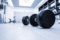 Fitness club interior Stock Photos