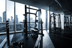 Fitness club interior Stock Photo