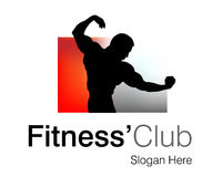 Fitness Club Logo Royalty Free Stock Image