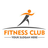 Fitness club logo design template Royalty Free Stock Photo