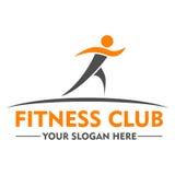Fitness-Club-Logo-Designschablone Lizenzfreies Stockfoto