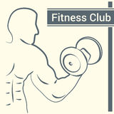 Fitness club logo with a silhouette of a man Stock Photography