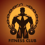 Fitness club logo. In vector Royalty Free Stock Image