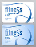 Fitness club membership card. Fitness club membership card design template vector illustration