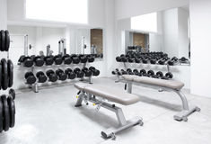 Fitness club weight training equipment gym Royalty Free Stock Photography