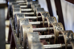 Fitness club weight training equipment gym Royalty Free Stock Photos