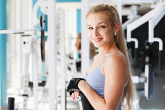 At the fitness club Royalty Free Stock Images