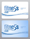 Fitness-ClubMitgliedskarte. Stockfotografie