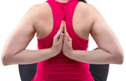 Fitness coach folded her hands behind back Stock Images