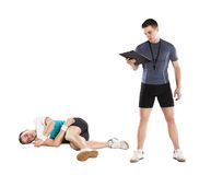 Fitness coach Stock Images