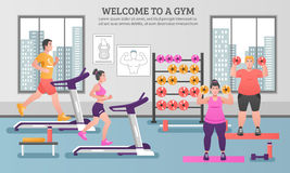 Fitness Colored Composition Royalty Free Stock Photos