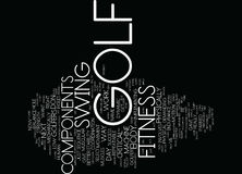 Fitness Components For Golf Text Background  Word Cloud Concept Royalty Free Stock Images
