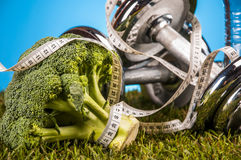 Fitness composition with, health theme Stock Photography